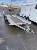 Brian James Trailers clubman Twin Axel car trailer CM7-T-048, 2600kg capacity. 4.9m x 1.9m -