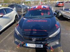 Honda Civic 1.5L sprint car left hand drive, Black paint finish, 2018 model, Cobra motorsport race