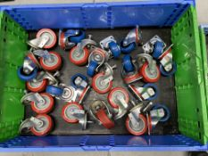 20 x caster wheels mixed used and unused