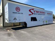 Hopkins Motorsport modified Gray Adams model type GADD3T/8 racing car event transporter trailer with
