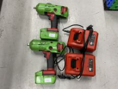 Snap-On CTEU8850 1/2'' (13mm) drive 18 volt battery impact wrench including CTC720 charger - (Qty 2)