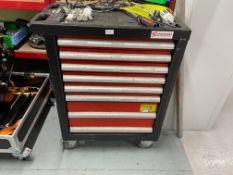 Sealey Premier 8 drawer mobile toolbox including the following tools, metric sockets 10-32mm, 1/