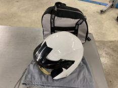Sparco Jet Pro 2013 open face racing helmet with cover and storage bag size S - 56 (Used)