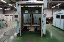 Box frame mounted MiG welding robot cell with a Panasonic TA-1400 6 axis MiG robot