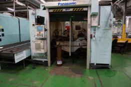 Box frame mounted MiG welding robot cell with 2 x Panasonic TA-1400 6 axis MiG robots