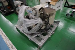Panasonic VR-006 6 axis MiG welding robot with Panasonic GD-E006 YA-IMCR01ED0 battery unit