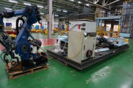 Box frame mounted MiG welding robot cell with 1 x Motoman YR-ES165N-A00 6-axis MiG robot welder