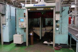 Box frame mounted MiG welding robot cell with 2 x Panasonic TA-1400 GIII 6 axis MiG robots