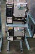2 x Toshiba TEC B-SX5T-TS22-QM-R SX5 RFID ready barcode/label printers with stand