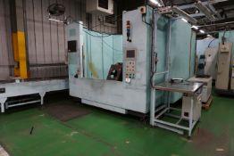 Box frame mounted spot-welding robot cell with a Yaskawa Motoman YR-ES165N-B00 6 axis spot weld robo