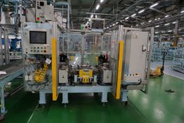 Yoshikawa twin head pin-press hydraulic spin rivet machine