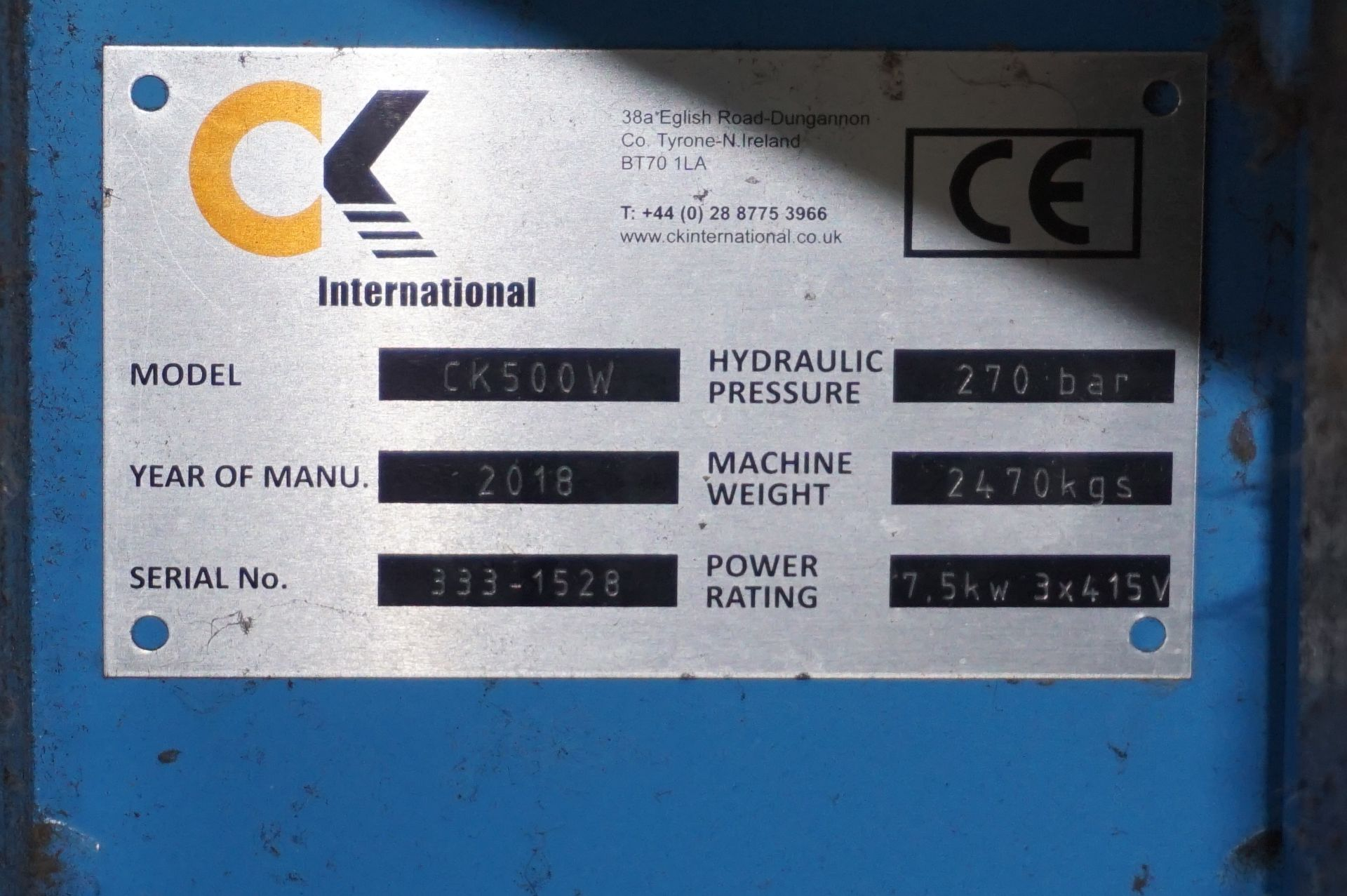 FuturFirst CK500WLUD hydraulic general waste compactor with CK international control unit - Image 5 of 5