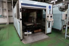 Box frame mounted MIG welding robot cell with 2 x Yaskawa Motoman YR-FA140N-BOO 6 axis MiG Robots