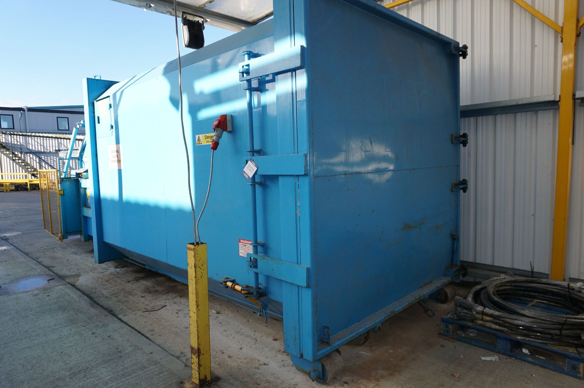 FuturFirst general waste compactor with front loading bin swing - Image 4 of 5
