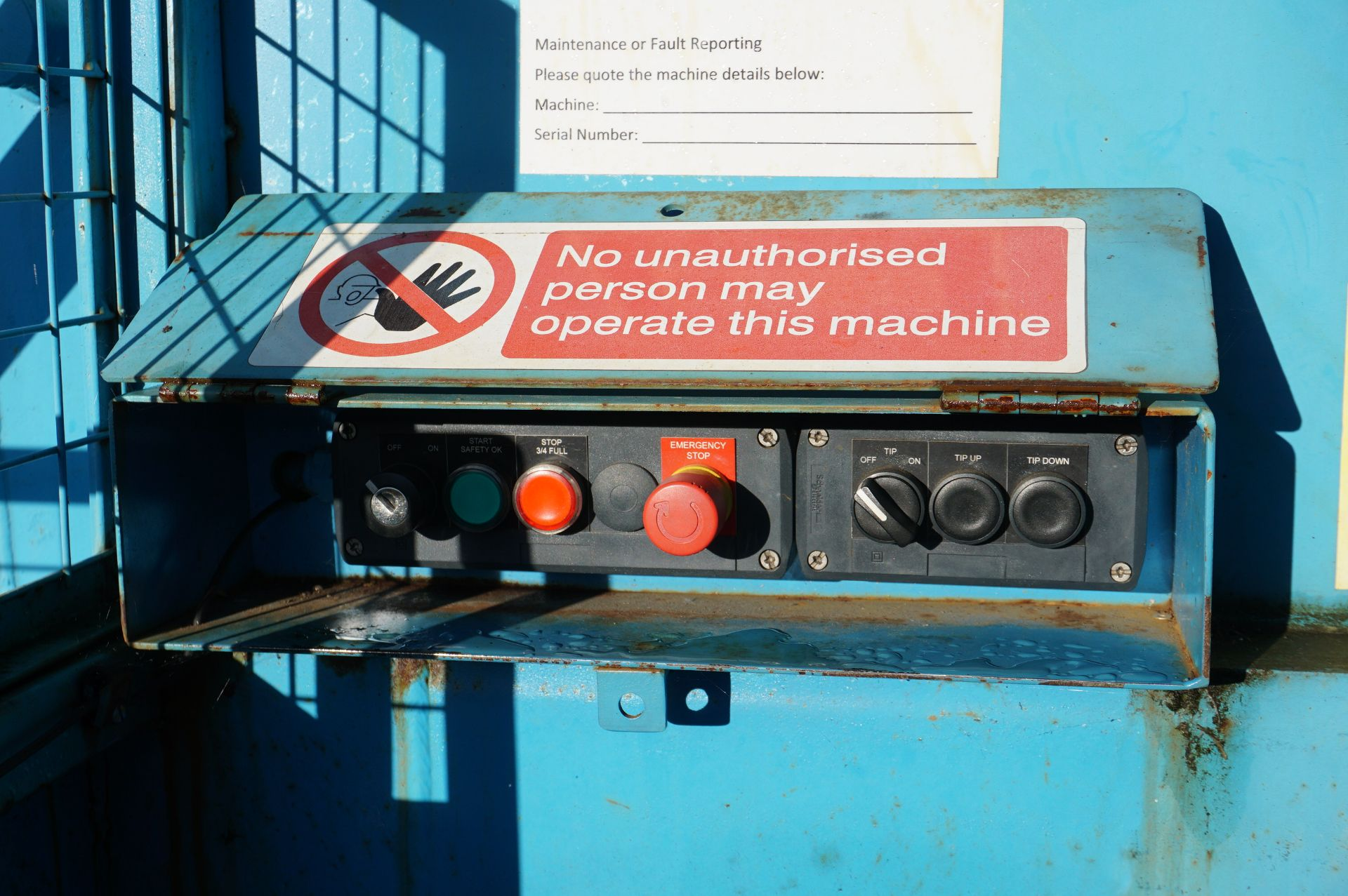 FuturFirst general waste compactor with front loading bin swing - Image 5 of 5