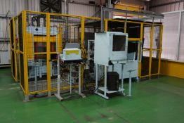 Keiyo automated tube bending/pressing system with a Yaskawa Motorman HP20D high precision robot