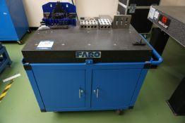 Faro Granite work cart with assorted tooling