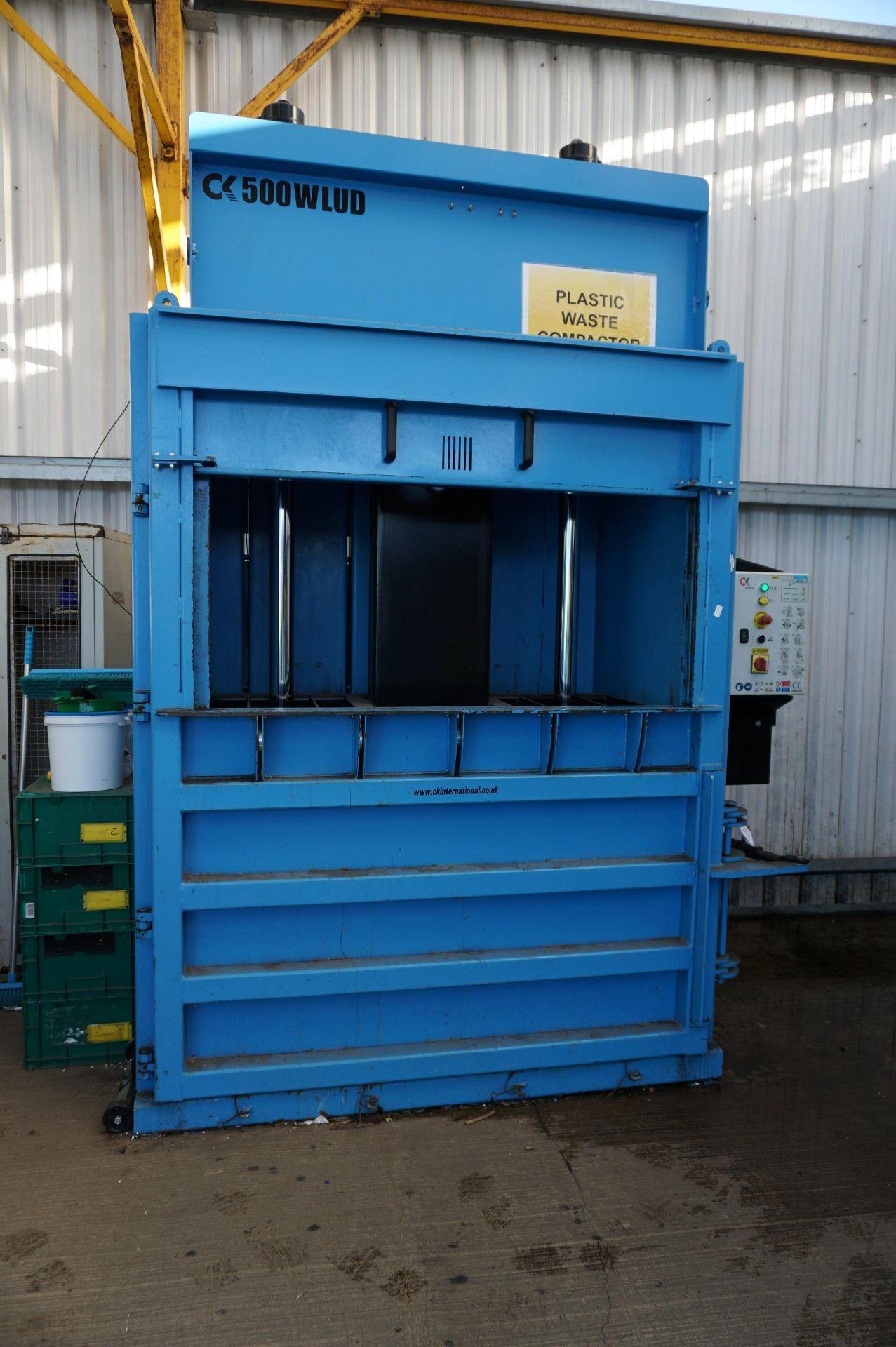 FuturFirst CK500WLUD hydraulic general waste compactor with CK international control unit