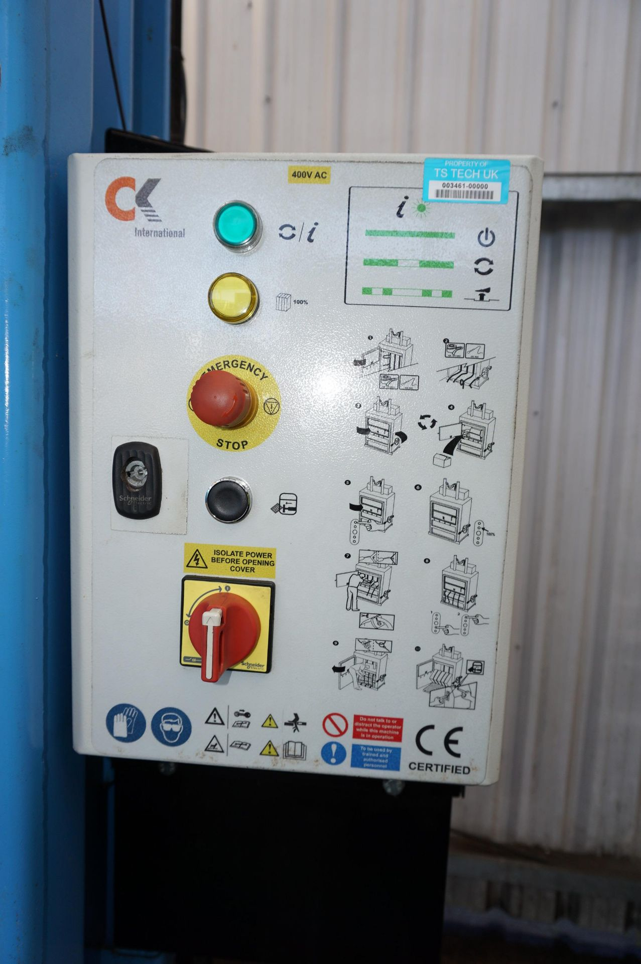 FuturFirst CK500WLUD hydraulic general waste compactor with CK international control unit - Image 3 of 5