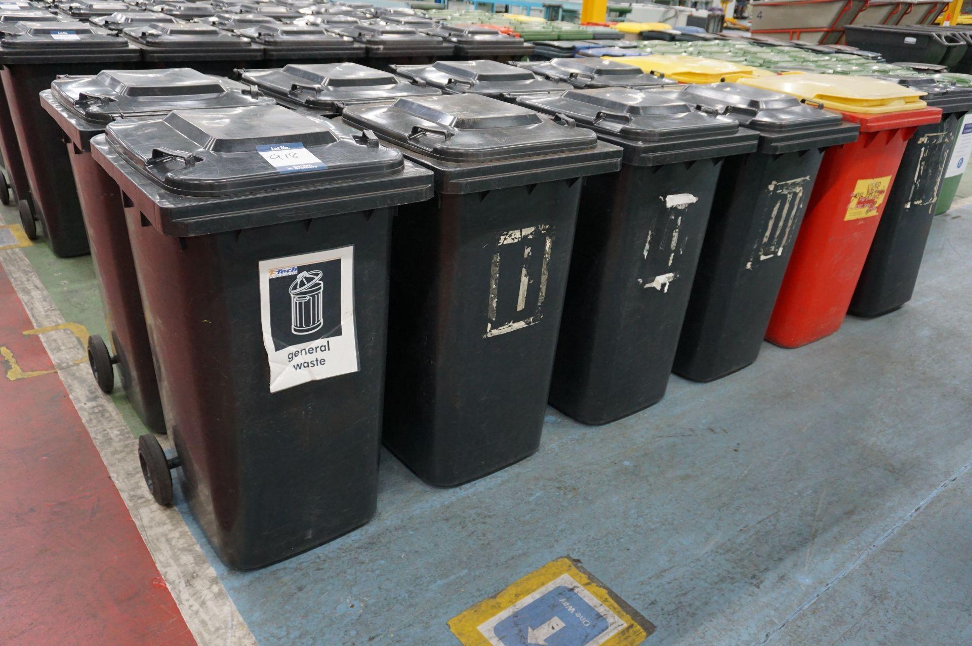 11 x Various make 240l plastic wheelie bins