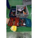 Quantity of hand tools, automated tools, tool chests, pneumatic tools, etc