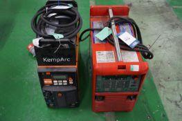 1 x Kemppi KempArc Pulse 350 MiG/MaG welder and 1 x TPS WeldTech TransSynergic 4000 MiG/MaG welder