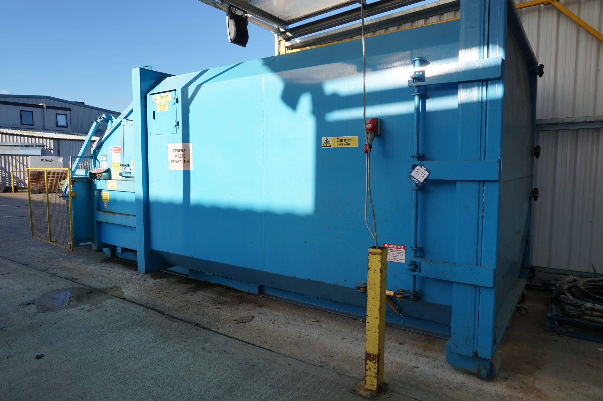 FuturFirst general waste compactor with front loading bin swing - Image 3 of 5