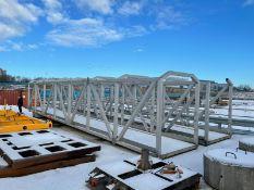 Aluminium Gangway / Walkway - L: 14m x W: 1.9m x H: 2.35m. 1 of 2