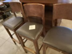 3 HIGH BAR STOOLS