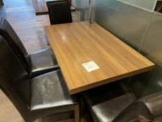 TABLE 700 x 1100 - 4 Faux Leather Chairs