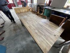 WOOD/METAL TABLE (700 x 1800)