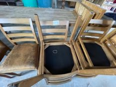5 X WOOD BACKED LEATHER CHAIRS
