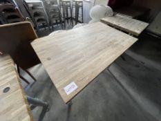 WOOD/METAL TABLE (720 x 1200)