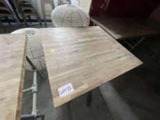 WOOD/METAL TABLE (740 x 800)