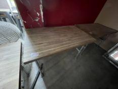 WOOD/METAL TABLE (740 x 1200)