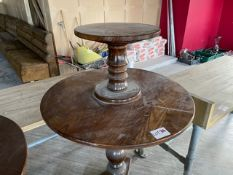STANDING TWO-TIER BAR TABLE