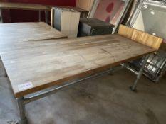 WOOD/METAL TABLE (730 x 1800)
