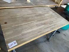 WOOD/METAL TABLE (730 x 1200)