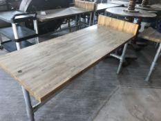 WOOD/METAL TABLE (720 x 1800)