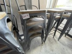 4 X METAL/WOOD STACKING CHAIRS