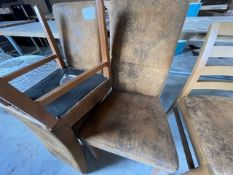 3 X LEATHER HIGH BACKED CHAIRS