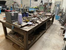 LARGE STEEL - WELDING WORK BENCH 2 VICES