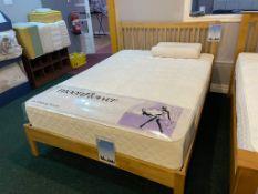 Ex Display Serene MYA Double Bed Frame Sopor Siberia Mattress (RRP 599)