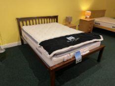 Ex Display Sandra Wood Bed Double Sealy Teramo Mattress RRP 1390