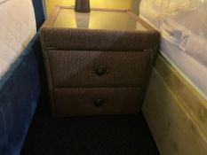 Matching 2 Draw Bedside Cabinets