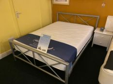 Ex Display Chateau Bed Frame Double Silent Night Mirror Pocket Mattress RRP 450