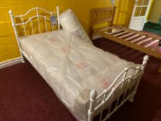 Single Antique-look Bed with Mattress RRP 350