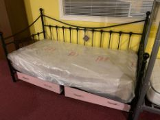 Antique Single Day Bed with Mattress
