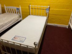 Crystal Knob Single Bed with Mattress RRP 300