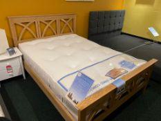 Ex Display Serene Maiden Oak Bed Frame Double, Sopor Arizona Mattress RRP 1250